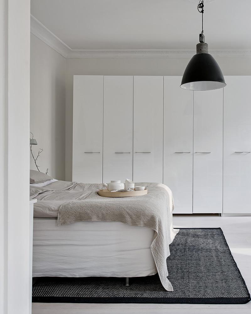 deco contemporaine noir blanc chambre