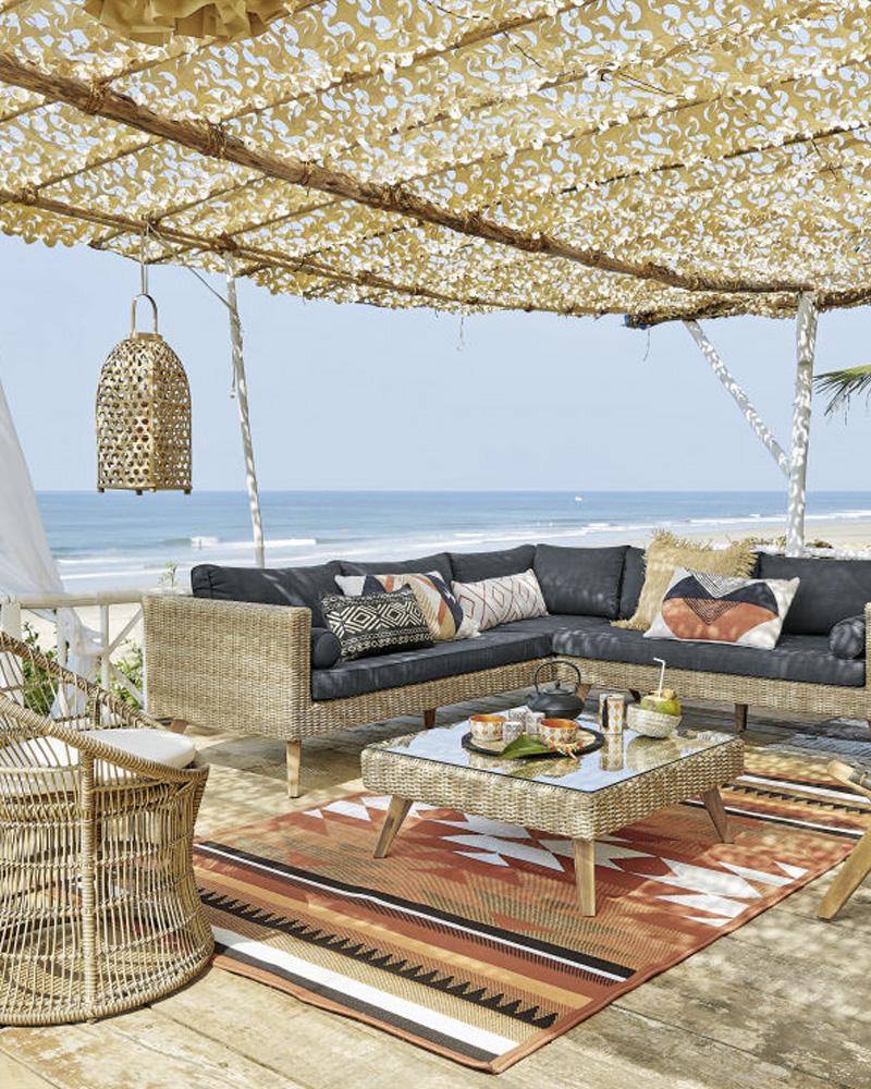 10 tapis d 39 ext rieur pour la d co de votre terrasse shake my blog. Black Bedroom Furniture Sets. Home Design Ideas