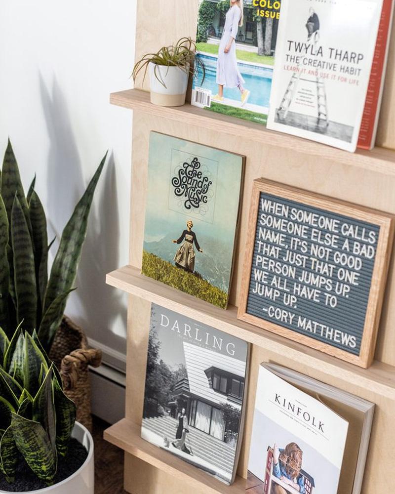 porte magazine diy étagère bois