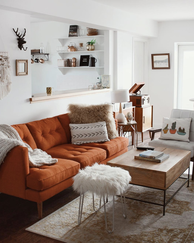 deco orange salon