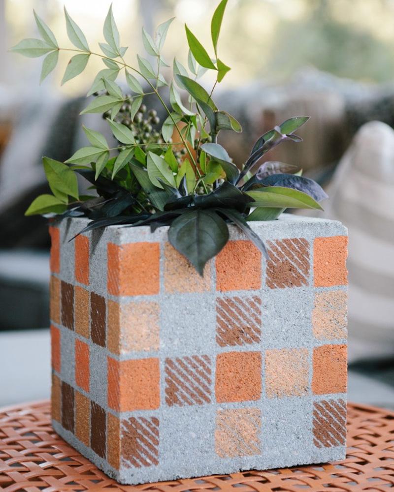 jardinière diy bloc beton