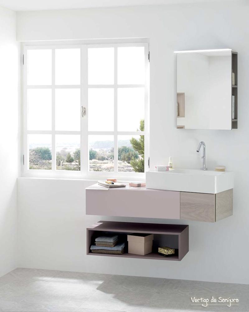 deco salle de bain rose campagne