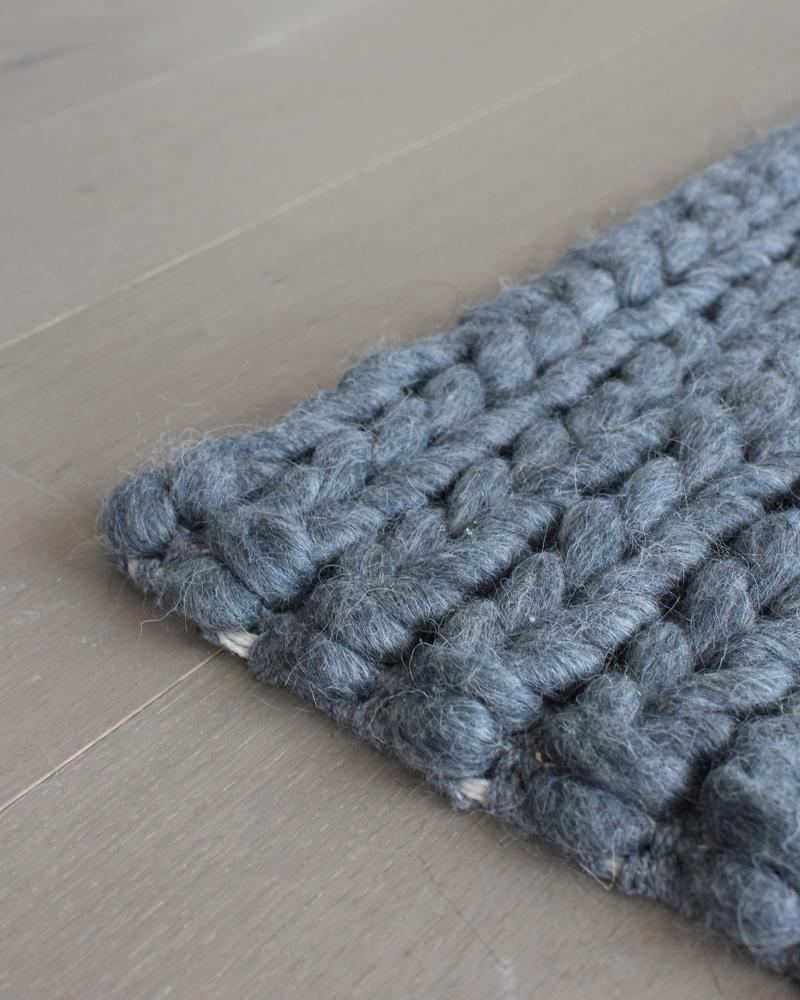 tapis sukhi gris tressé