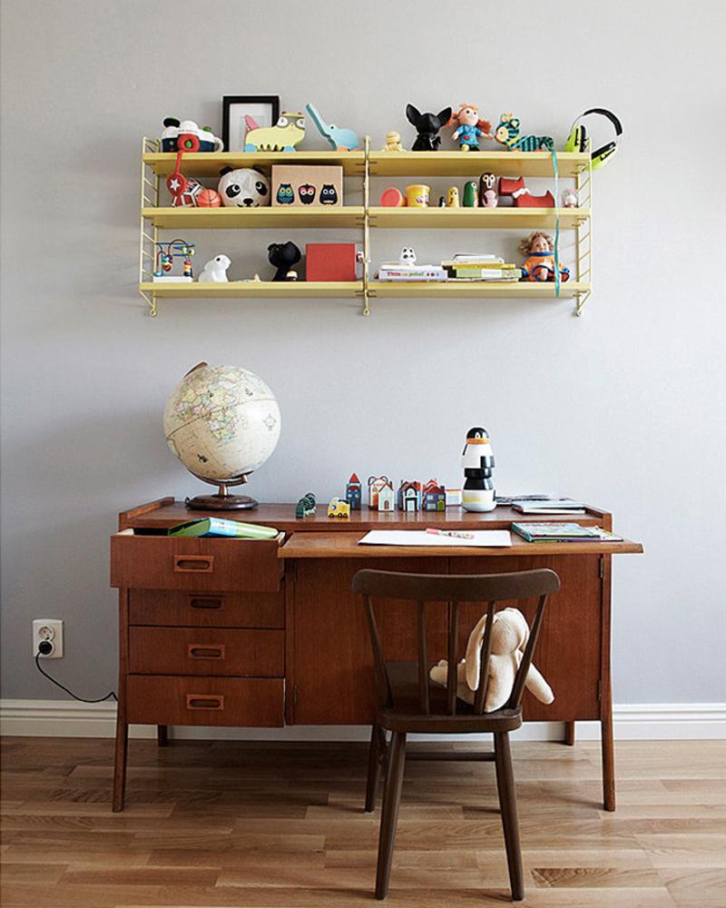 deco bureau enfant vintage