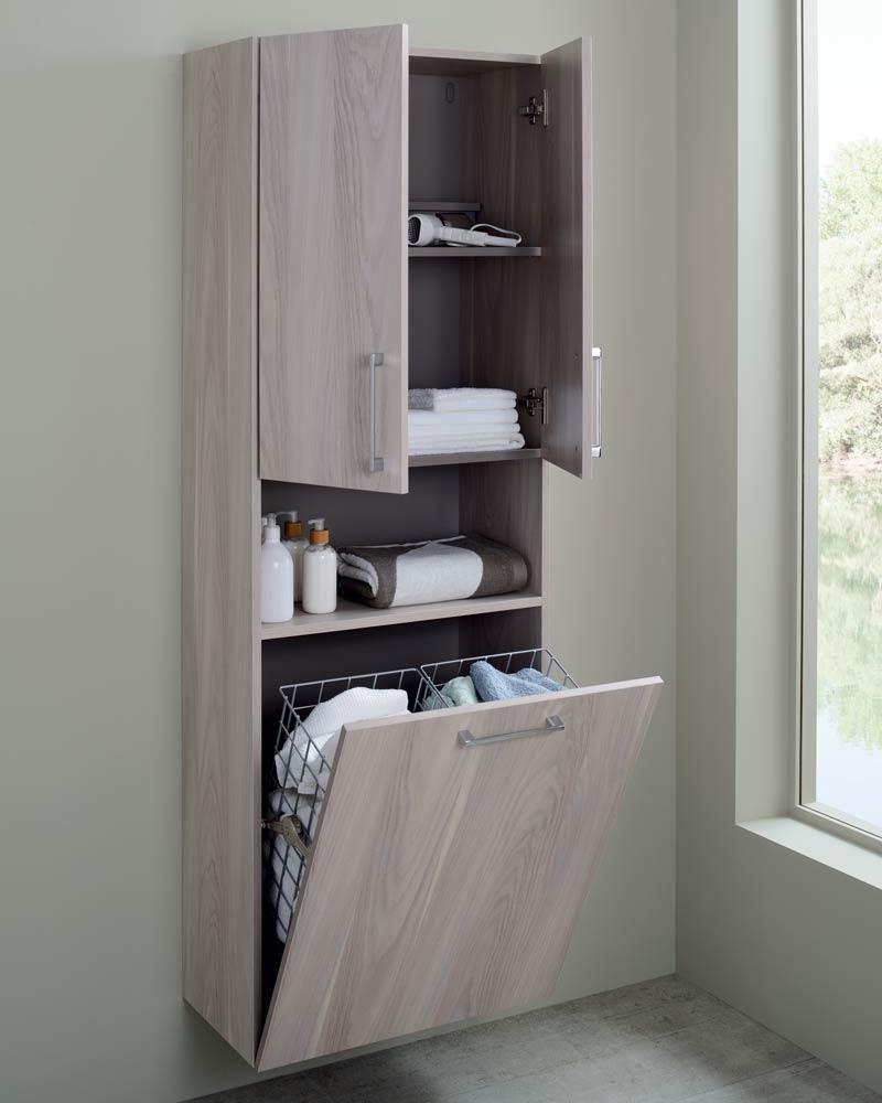 deco salle de bain familiale rangement meuble