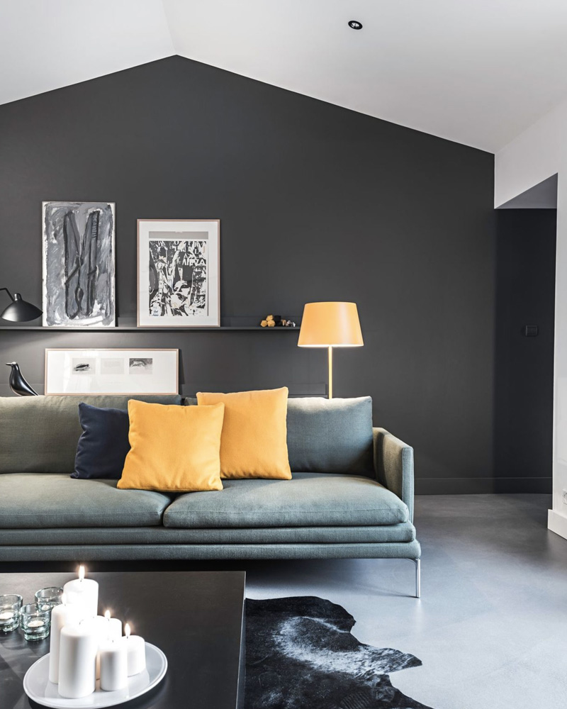 comment d corer votre salon avec le gris et le blanc. Black Bedroom Furniture Sets. Home Design Ideas