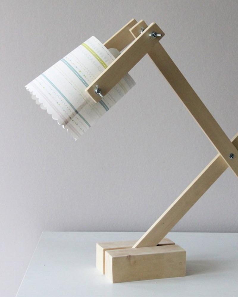 lampe bureau diy bois papier