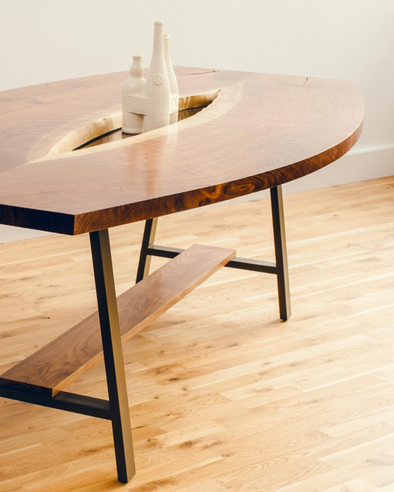 table sur mesure live edge lilm