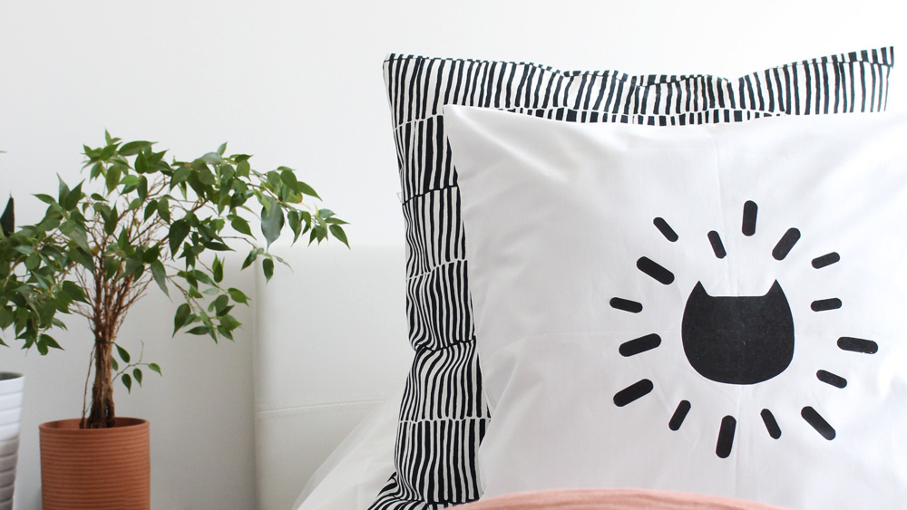 coussin chat diy halloween