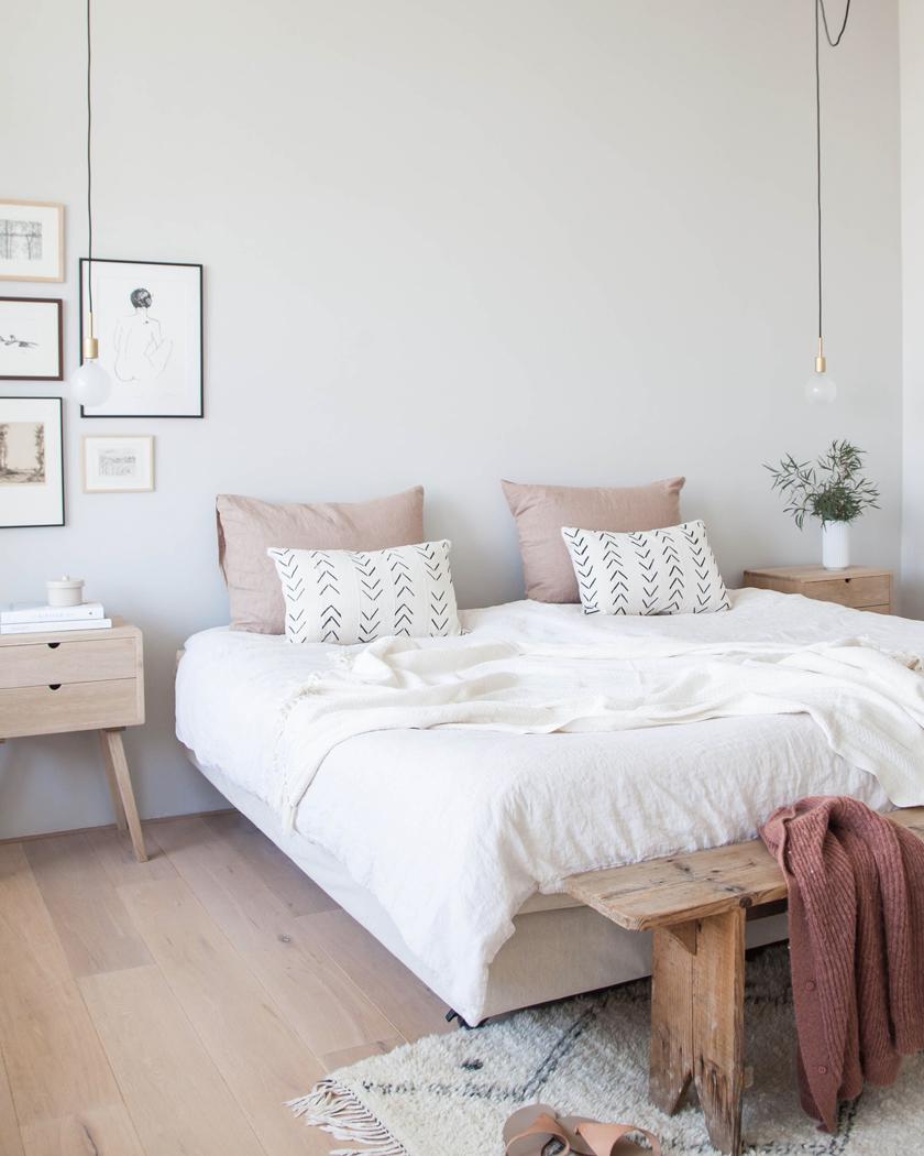 utiliser le bois et le blanc dans la d co de la chambre shake my blog. Black Bedroom Furniture Sets. Home Design Ideas