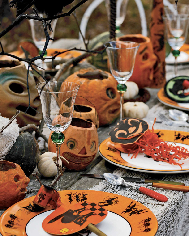 deco table halloween extérieur