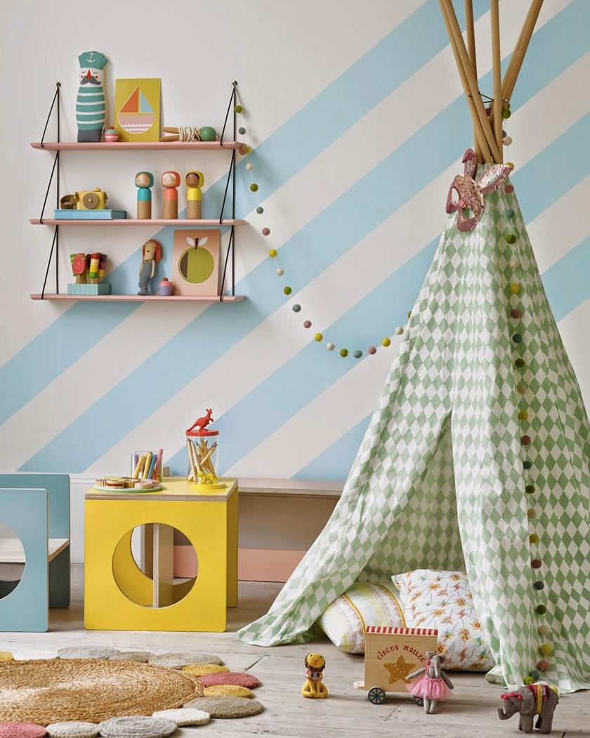 tipi chambre enfant coloré