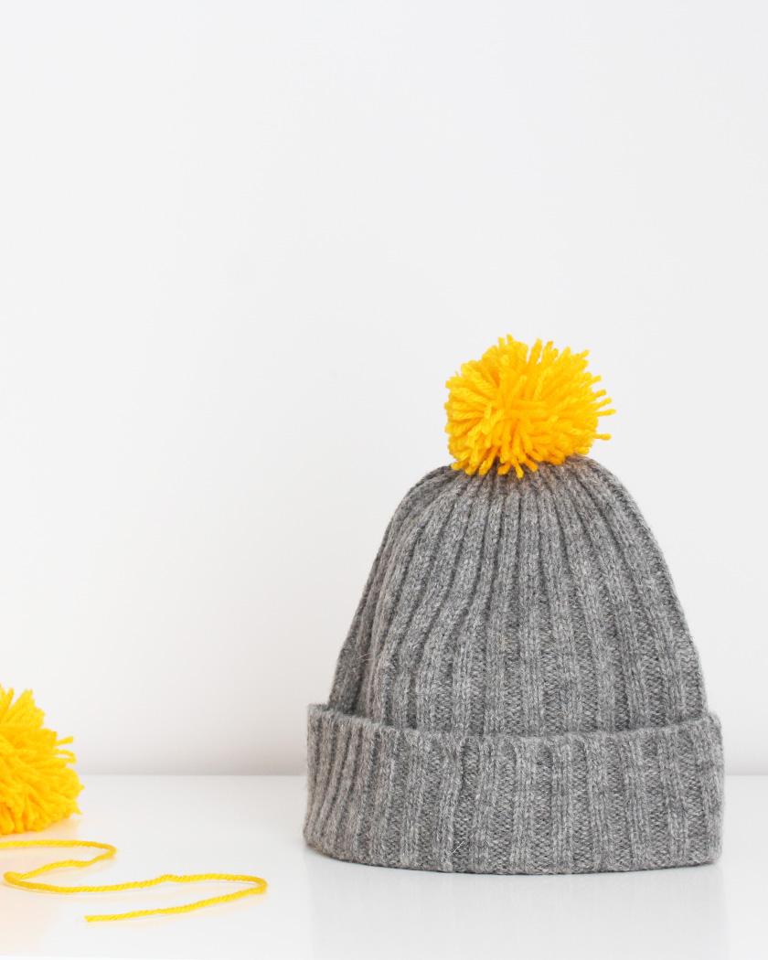 bonnet pompon diy