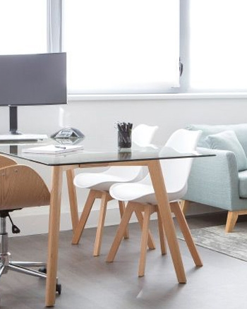 chaise scandinave blanc bois