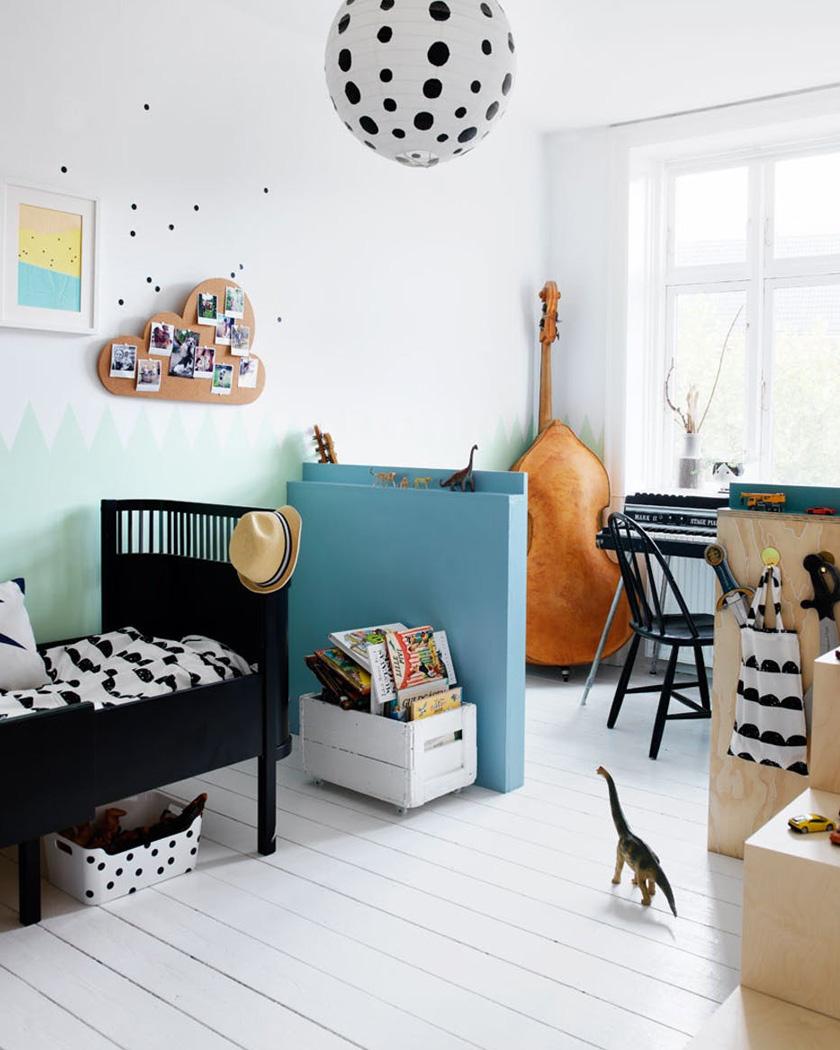 chaise scandinave noire enfant