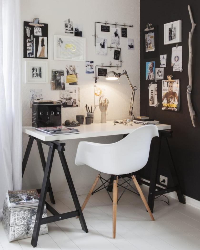 chaise scandinave blanche bureau