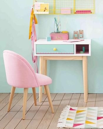 chaise vintage enfant rose