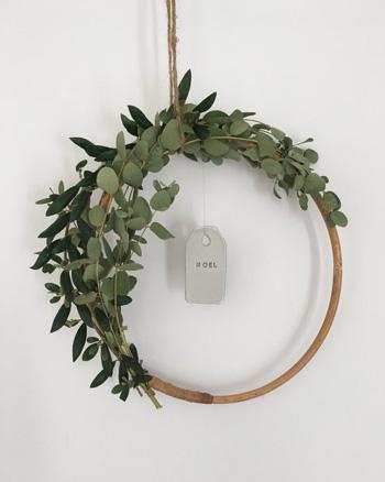 couronne noel eucalyptus