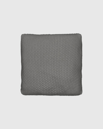 housse de coussin tricot gris