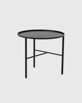 table d'appoint en métal noire