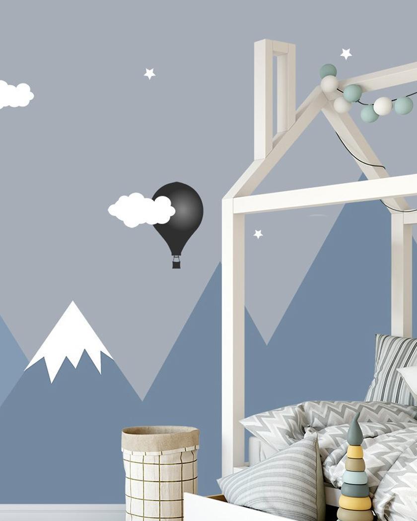 mur montagne chambre enfant papier peint