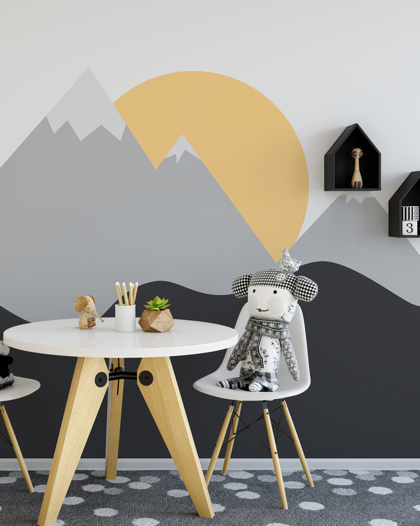 10 Facons De Creer Un Mur Montagne Dans La Chambre Des