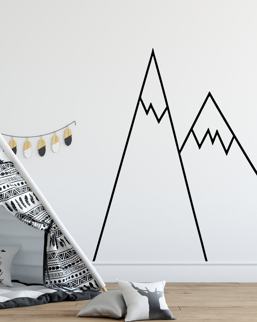mur montagne chambre enfant sticker