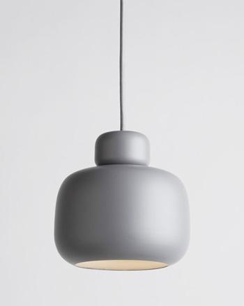 suspension pierre ronde grise