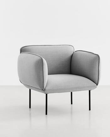 fauteuil gris woud