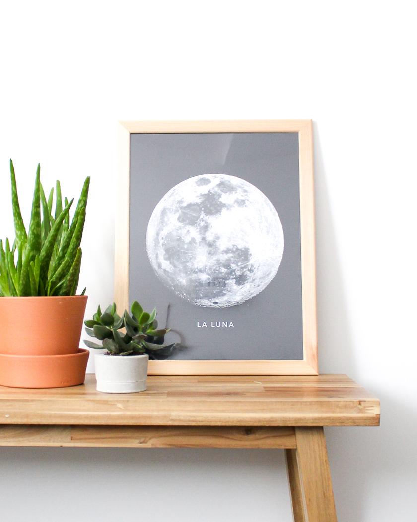 affiche deco murale posterlounge lune