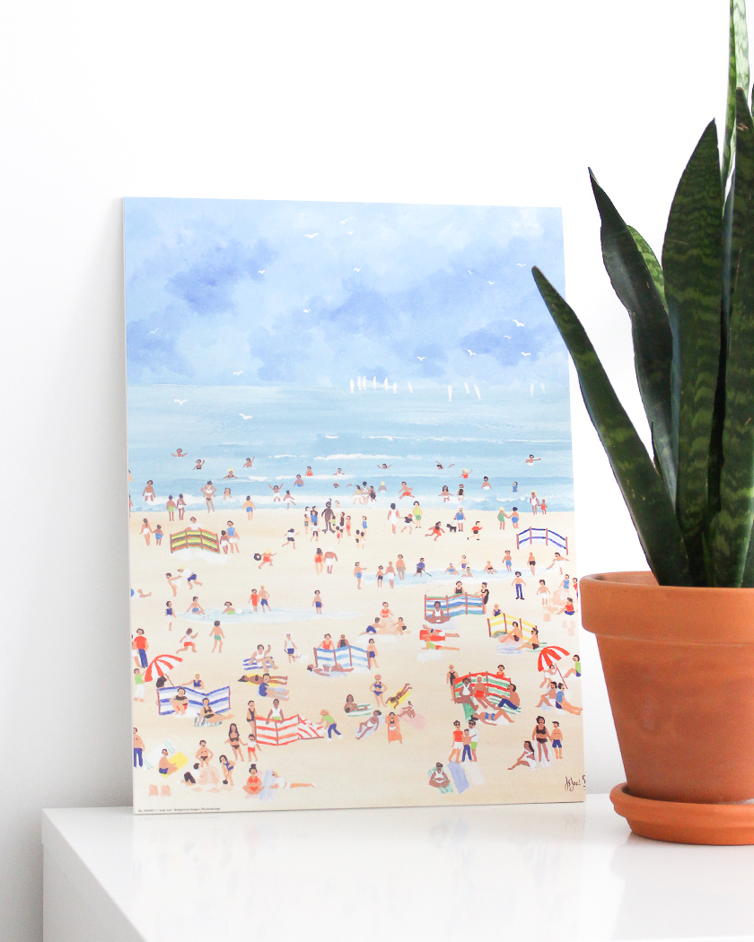 affiche deco murale posterlounge plage