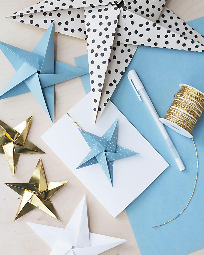 carte noel diy étoile papier