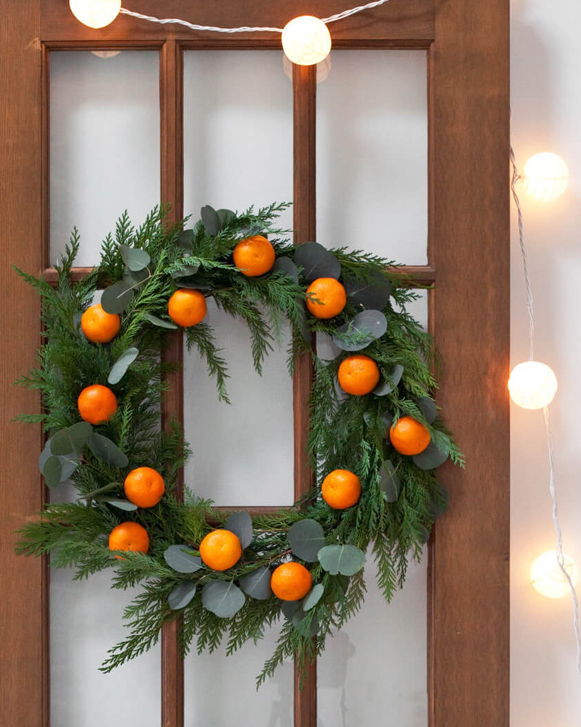 couronne noel diy traditionnelle agrumes
