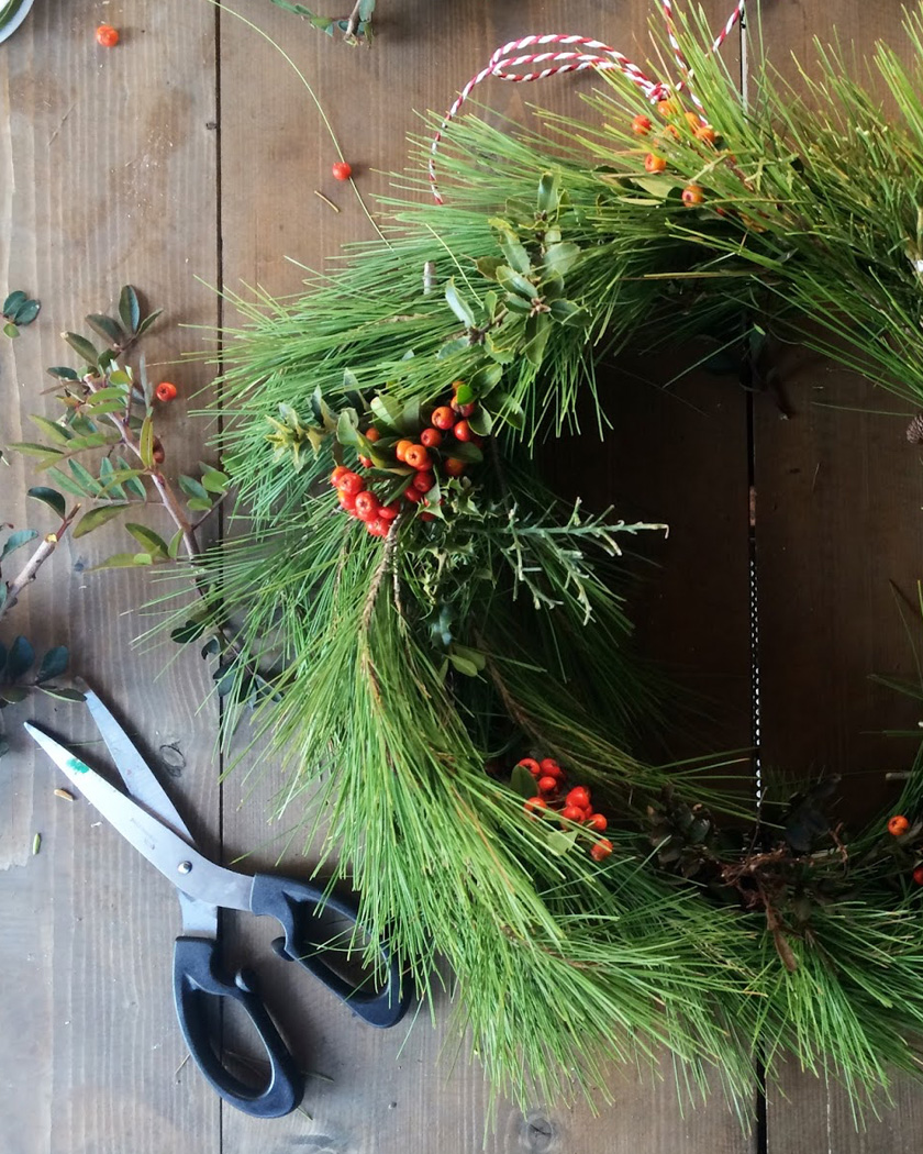 couronne noel diy traditionnelle sapin