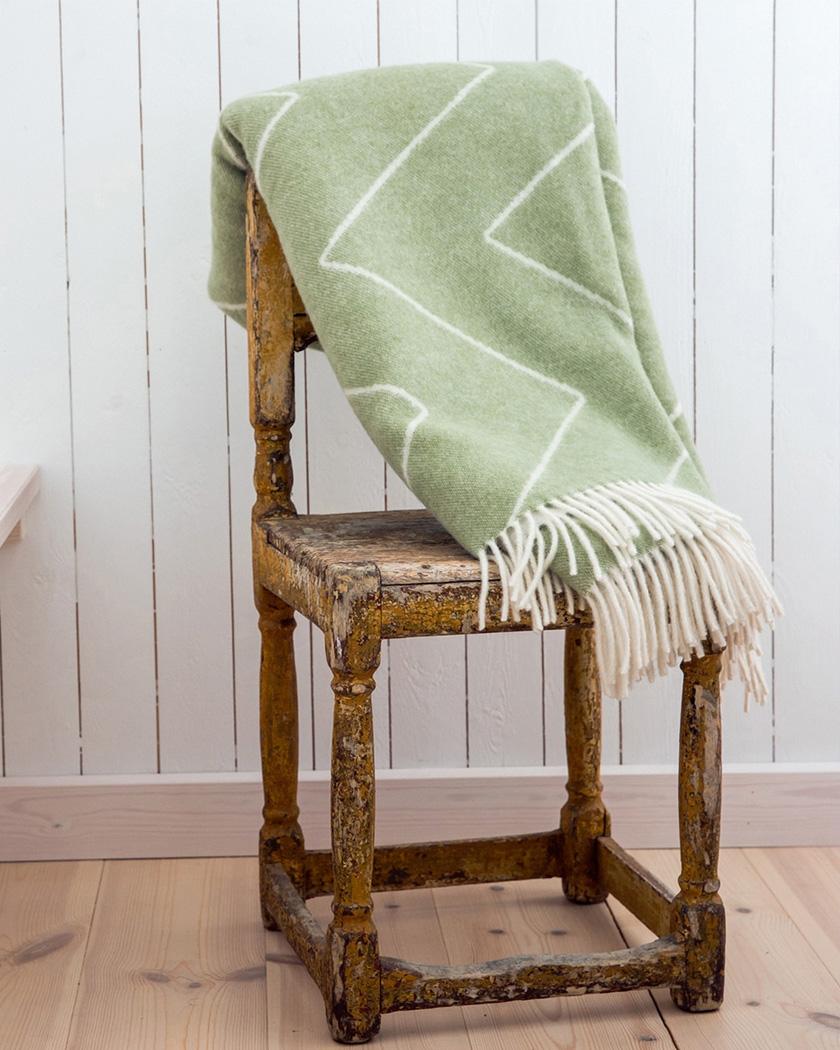 deco zeeloft petit prix plaid scandinave vert laine