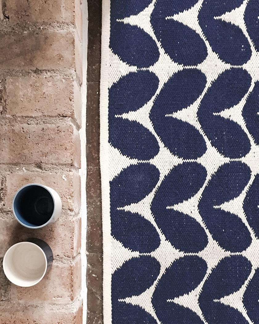 deco zeeloft petit prix tapis laine scandinave bleu