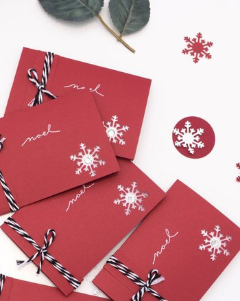 enveloppe carte cadeau noel