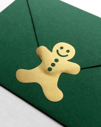 sticker doré gingerbread