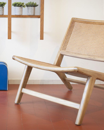 fauteuil scandinave cannage