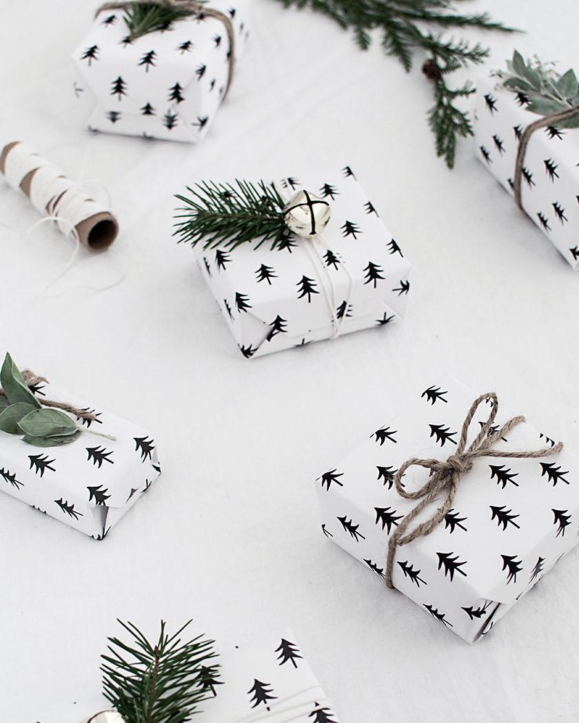 10 Papiers Cadeaux Et étiquettes à Imprimer Pour Noël