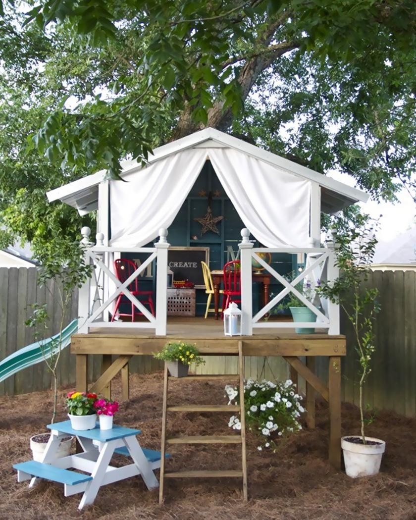 cabane diy jardin