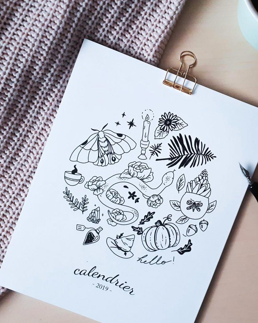 calendrier 2019 a imprimer illustré