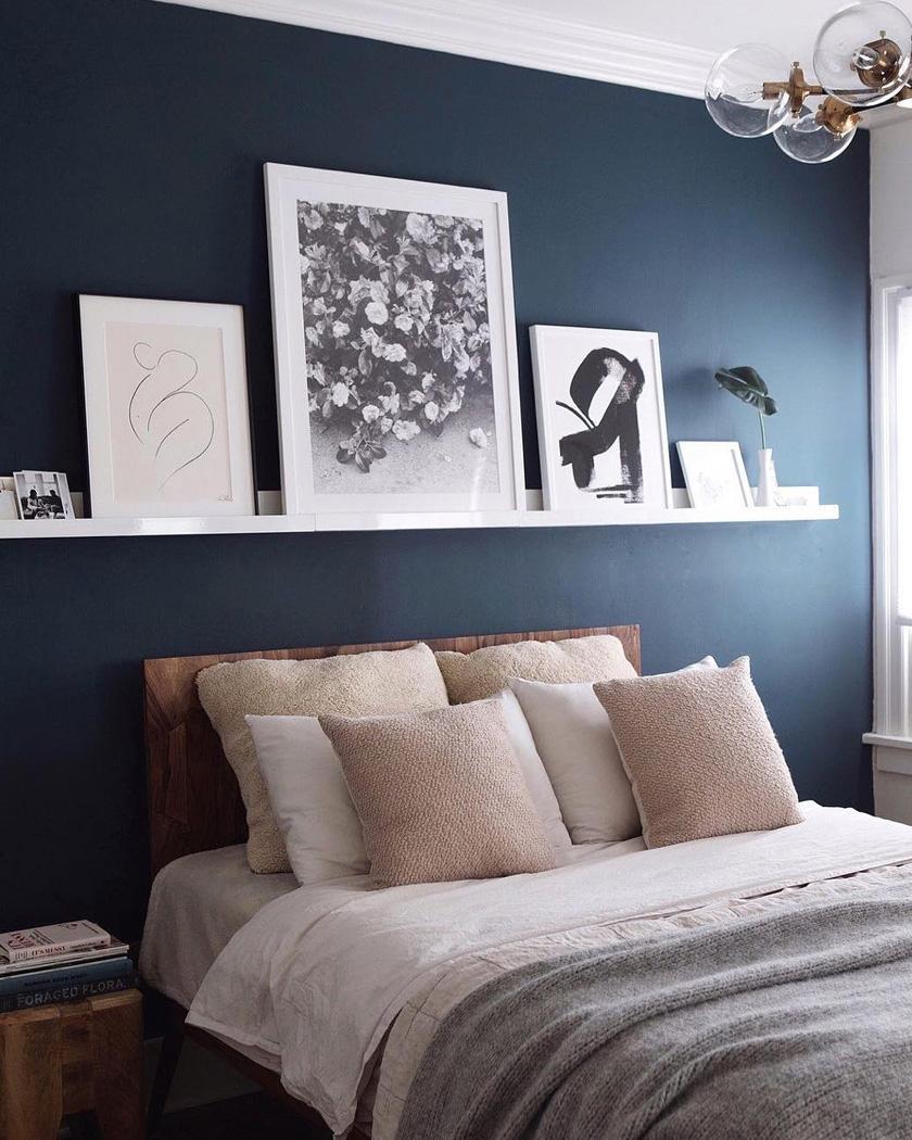 déco chambre féminine beige rose bleu