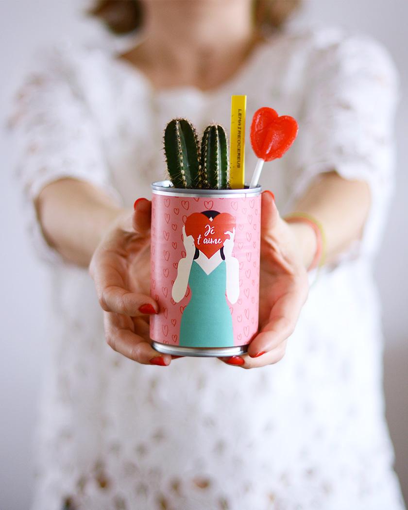 diy a imprimer saint valentin pot plante