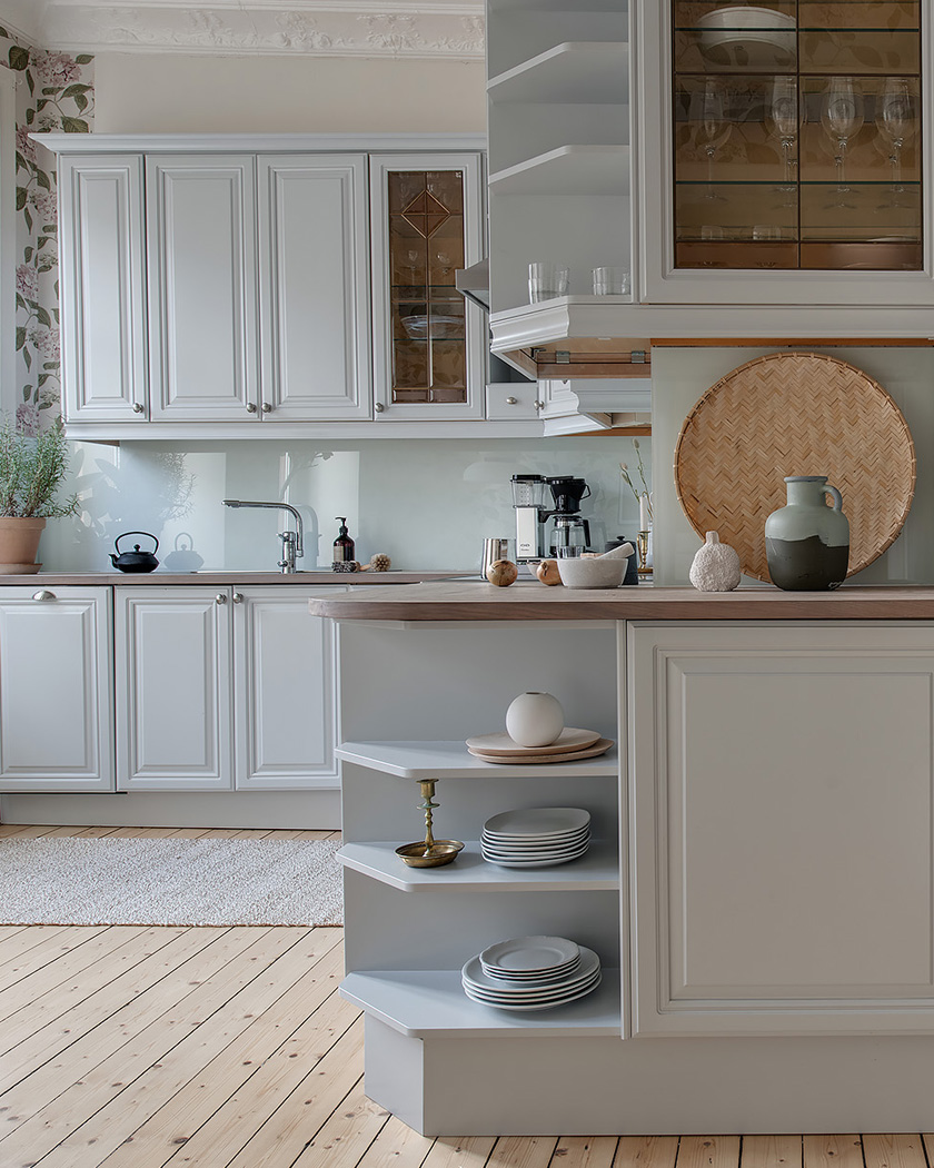 cuisine scandinave meubles blancs