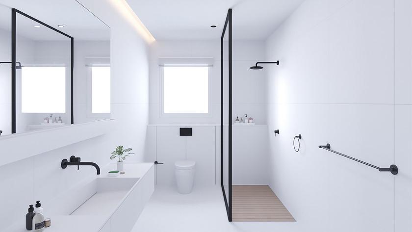 Deco Salle De Bain Moderne Douche Italienne Blanc