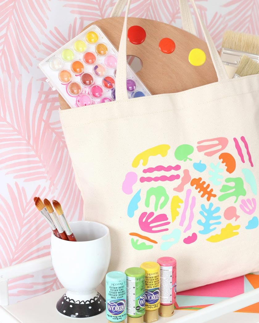diy motif matisse collage totebag