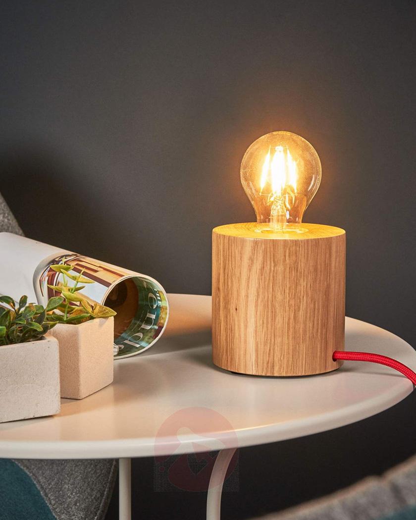 lampe chevet chambre bois