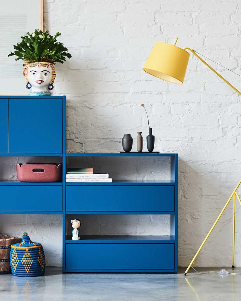 meuble personnalisable mycs étagère bleue