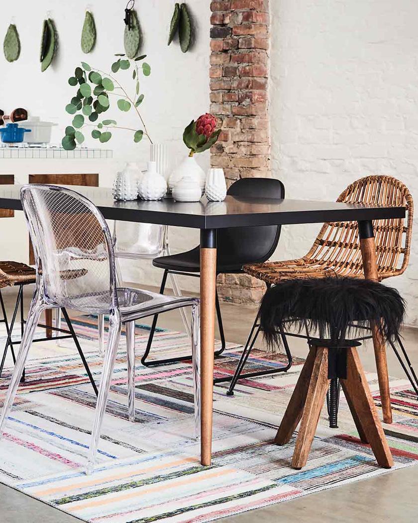 meuble personnalisable mycs table noire et bois